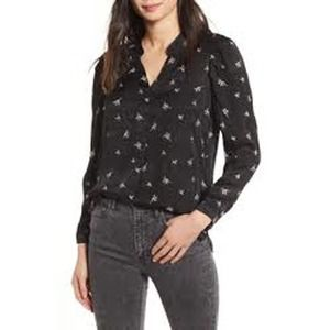 ALLSAINTS Rosi Embroidered Bamboo Print Blouse